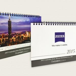 印刷設計-桌曆印刷- ZEISS2015